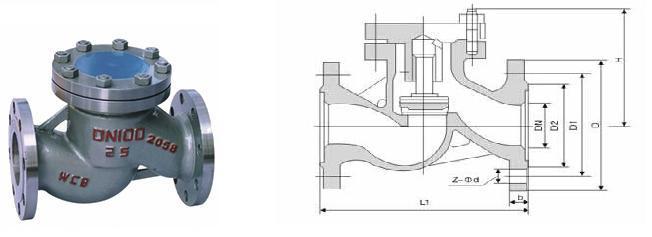 法蘭升降止回閥的結構一般與截止閥相似,其閥瓣沿著通道中以線作升降運動,動作可靠,但流體阻力較大,適用于輕小口徑的場合。升降式止回閥可直通式和立式兩種。直通式升降止回閥一般只能安裝在水平管路,而立式升降止回閥一般就安裝在垂直管路