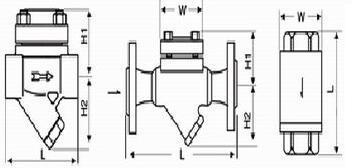 膜盒式疏水阀结构图