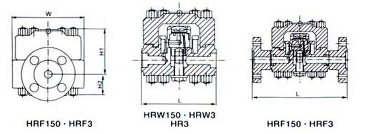高溫高壓圓盤式疏水閥結構圖