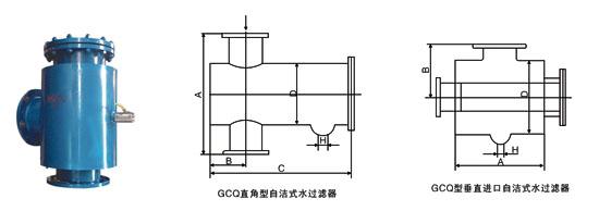 自洁式水过滤器结构图